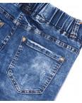 5060 New jeans шорты джинсовые мужские молодежные на резинке с царапками стрейчевые (28-36, 8 ед.): артикул 1091369