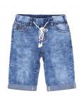 5072 New jeans шорты джинсовые мужские молодежные на резинке с царапками стрейчевые (28-36, 8 ед.): артикул 1091373