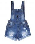 A 0032-10 Relucky комбинезон-шорты джинсовый женский с рванкой и царапками котоновый (25-30, 6 ед.): артикул 1091524