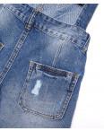 A 0027-10 Relucky комбинезон-шорты джинсовый женский с рванкой и царапками котоновый (25-30, 6 ед.): артикул 1091525