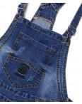 A 0134-15 Relucky комбинезон-шорты джинсовый женский батальный с  царапками стрейчевый (28-33, 6 ед.): артикул 1091529