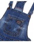 A 0136-15 Relucky комбинезон-шорты джинсовый женский с  царапками стрейчевый (25-30, 6 ед.): артикул 1091530