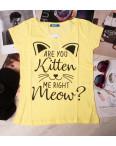 0001-1111 желтая MMC футболка женская котоновая (S-XL, 4 ед.): артикул 1090331