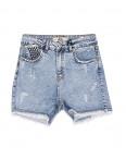 4956 Sessanta шорты джинсовые женские с царапками стрейчевые (25-30, 6 ед.): артикул 1093787