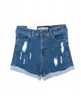 080622 темно-синие Sasha (2) шорты женские с подворотом рванка (26-31, 8 ед.): артикул 1094218
