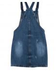 0226-1 Relucky комбинезон-юбка джинсовый с царапками осенний стрейчевый (25-30, 6 ед.) : артикул 1095623
