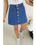 10002 Defile юбка джинсовая на пуговицах осенняя котоновая (34-40, евро, 6 ед.): артикул 1095938