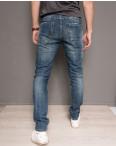0004 Top Star джинсы мужские молодежные с царапками осенние стрейчевые (27-34, 8 ед.) : артикул 1098532