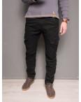 1869-black Forex брюки мужские молодежные карго на флисе зимние стрейч-котон (28-40, 10 ед.): артикул 1099443