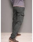 1863-dark grey Forex брюки мужские карго на флисе зимние стрейч-котон (30-40, 10 ед.): артикул 1099438