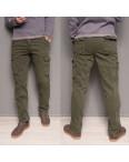 1863-army green Forex брюки мужские карго на флисе зимние стрейч-котон (30-40, 10 ед.): артикул 1099435