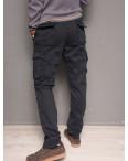 1863-dark blue Forex брюки мужские карго на флисе зимние стрейч-котон (30-40, 10 ед.): артикул 1099437