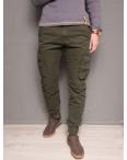 1868-army green Forex брюки мужские молодежные карго на флисе зимние стрейч-котон (28-40, 10 ед.): артикул 1099439