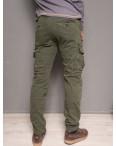 1869-army green Forex брюки мужские молодежные карго на флисе зимние стрейч-котон (28-40, 10 ед.): артикул 1099442