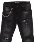 5418 Redman джинсы мужские с рванкой модные темно-серые осенние стрейчевые (29-36, 8 ед.): артикул 1099405