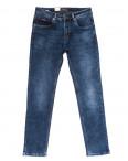 0063 Longli джинсы мужские полубатальные синие на байке стрейчевые (32-38, 8 ед.): артикул 1101935
