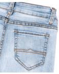 3599 New jeans американка голубая с царапками весенняя стрейчевая (25-30, 6 ед.): артикул 1102278