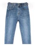 3613 New jeans американка синяя с царапками весенняя стрейчевая (25-30, 6 ед.): артикул 1102280