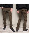 8813-2 коричневые Iteno брюки мужские карго цвета хаки осенние стрейчевые (30-38,6/12 ед.): артикул 1102136