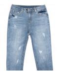 3619 New jeans мом с царапками синий весенний коттоновый (25-30, 6 ед.): артикул 1103391