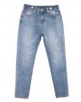 3653 New jeans мом с царапками синий весенний коттоновый (25-30, 6 ед.): артикул 1103396