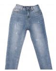 3654 New jeans мом с царапками синий весенний коттоновый (25-30, 6 ед.): артикул 1103401