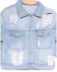 0806 New jeans куртка джинсовая женская голубая весенняя коттоновая (XS-XXL, 6 ед.): артикул 1103414