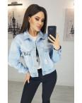 0805 New jeans куртка джинсовая женская голубая весенняя коттоновая (XS-XXL, 6 ед.): артикул 1103412