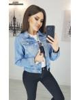 0804 New jeans куртка джинсовая женская синяя весенняя коттоновая (XS-XXL, 6 ед.): артикул 1103410