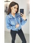 0803 New jeans куртка джинсовая женская синяя весенняя коттоновая (XS-XXL, 6 ед.): артикул 1103413