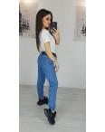 3596 New jeans мом синий весенний коттоновый (25-30, 6 ед.): артикул 1102250