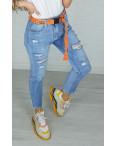 3590 New jeans мом голубой с царапками весенний коттоновый (25-30, 6 ед.): артикул 1102255