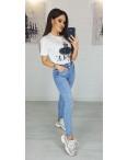 3625 New jeans джинсы женские зауженные голубые весенние стрейчевые (25-30, 6 ед.): артикул 1103386