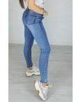 3570 New jeans американка синяя с царапками весенняя стрейчевая (25-30, 6 ед.): артикул 1102264