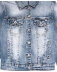 9053 Saint Wish куртка джинсовая женская синяя весенняя стрейчевая (ХS-XL, 5 ед.): артикул 1104861