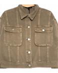 9104-11 Saint Wish куртка джинсовая женская хаки весенняя коттоновая (ХS-XL, 5 ед.): артикул 1104868