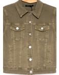 9035-11 Saint Wish куртка джинсовая женская хаки весенняя стрейчевая (ХS-XL, 5 ед.): артикул 1104879