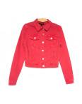 9035-9 Saint Wish куртка джинсовая женская красная весенняя стрейчевая (ХS-XL, 5 ед.): артикул 1104880