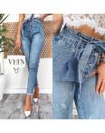 3589-01 New jeans мом голубой с царапками весенний коттоновый (28,29, 2 ед.): артикул 1107196