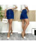 0590-3 Arox юбка джинсовая на пуговицах синяя весенняя стрейчевая (34-40, евро, 4 ед.): артикул 1105488