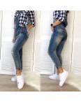 0121 Lolo Blues комбинезон джинсовый женский с рванкой весенний котоновый (25-30, 6 ед.): артикул 1105920