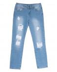 0062 Jushioumfiva джины женские с рванкой синие весенние стрейчевые (25-30, 6 ед.): артикул 1105975