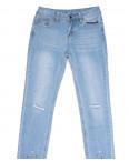 0059 Jushioumfiva джины женские с рванкой синие весенние стрейчевые (25-30, 6 ед.): артикул 1105977