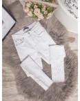 0423 Periscope джинсы женские белые с декоративной отделкой летние стрейчевые (36-42, евро, 8 ед.): артикул 1106774