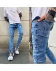 0600 Fashion Mario джинсы мужские с рванкой синие весенние стрейчевые (29-36, 8 ед.): артикул 1107525