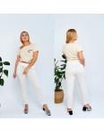 19801-1 молочные брюки женские батальные из льна коттоновые (4 ед. размеры: 50.52.54.56): артикул 1107811