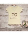 0122-01 желтая MMC футболка женская с принтом стрейчевая (S, 1 ед.): артикул 1090353