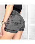 8882-2 Relucky шорты джинсовые женские с рванкой серые стрейчевые (25-30, 6 ед.): артикул 1108529