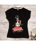 Черная женская футболка с принтом Carla Mara 3209-2: артикул 1110817