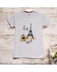 Серая женская футболка с принтом Carla Mara 3212-2: артикул 1110818